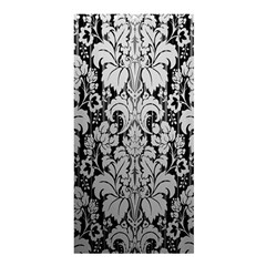 Flower Floral Grey Black Leaf Shower Curtain 36  X 72  (stall)  by Mariart
