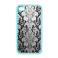 Flower Floral Grey Black Leaf Apple Iphone 4 Case (color) by Mariart