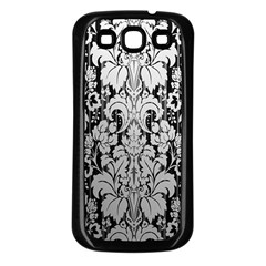 Flower Floral Grey Black Leaf Samsung Galaxy S3 Back Case (black) by Mariart