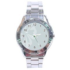 Hibiscus Sakura Glacier Gray Stainless Steel Analogue Watch by Mariart