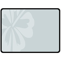 Hibiscus Sakura Glacier Gray Double Sided Fleece Blanket (large)  by Mariart