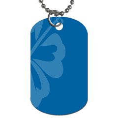 Hibiscus Sakura Classic Blue Dog Tag (one Side) by Mariart