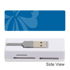 Hibiscus Sakura Classic Blue Memory Card Reader (stick)  by Mariart