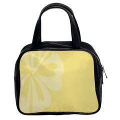Hibiscus Custard Yellow Classic Handbags (2 Sides) by Mariart