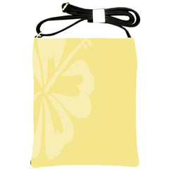 Hibiscus Custard Yellow Shoulder Sling Bags by Mariart