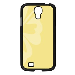Hibiscus Custard Yellow Samsung Galaxy S4 I9500/ I9505 Case (black) by Mariart