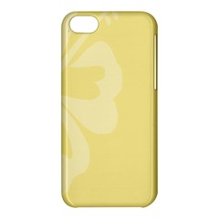 Hibiscus Custard Yellow Apple Iphone 5c Hardshell Case by Mariart