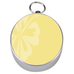 Hibiscus Custard Yellow Silver Compasses by Mariart