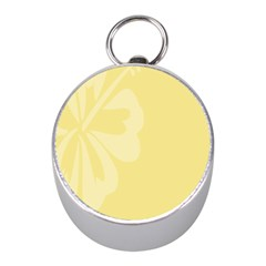 Hibiscus Custard Yellow Mini Silver Compasses by Mariart