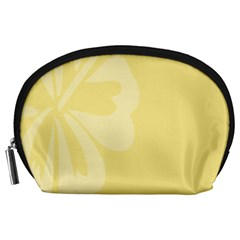 Hibiscus Custard Yellow Accessory Pouches (large)  by Mariart