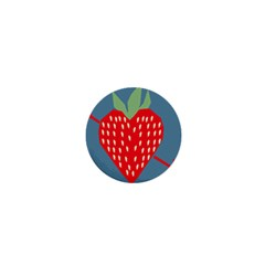 Fruit Red Strawberry 1  Mini Magnets by Mariart