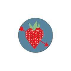 Fruit Red Strawberry Golf Ball Marker by Mariart