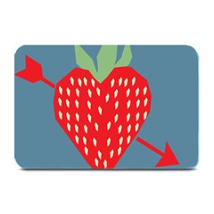 Fruit Red Strawberry Plate Mats by Mariart