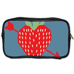 Fruit Red Strawberry Toiletries Bags 2 Side by Mariart