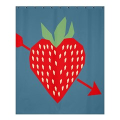Fruit Red Strawberry Shower Curtain 60  X 72  (medium)  by Mariart