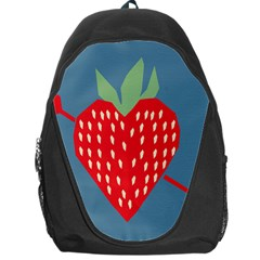 Fruit Red Strawberry Backpack Bag by Mariart