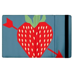 Fruit Red Strawberry Apple Ipad 3/4 Flip Case by Mariart