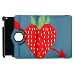 Fruit Red Strawberry Apple Ipad 3/4 Flip 360 Case by Mariart