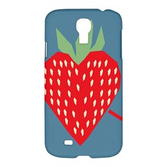 Fruit Red Strawberry Samsung Galaxy S4 I9500/i9505 Hardshell Case by Mariart
