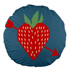 Fruit Red Strawberry Large 18  Premium Flano Round Cushions by Mariart
