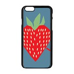 Fruit Red Strawberry Apple iPhone 6/6S Black Enamel Case Front