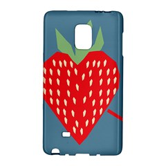 Fruit Red Strawberry Galaxy Note Edge by Mariart