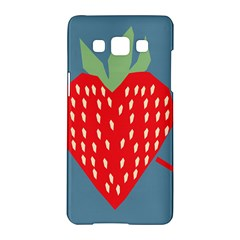 Fruit Red Strawberry Samsung Galaxy A5 Hardshell Case  by Mariart