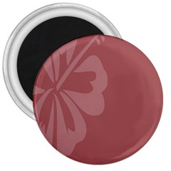 Hibiscus Sakura Red 3  Magnets by Mariart