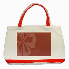 Hibiscus Sakura Red Classic Tote Bag (red) by Mariart