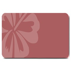 Hibiscus Sakura Red Large Doormat  by Mariart