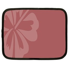 Hibiscus Sakura Red Netbook Case (large) by Mariart