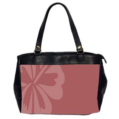 Hibiscus Sakura Red Office Handbags (2 Sides)  by Mariart