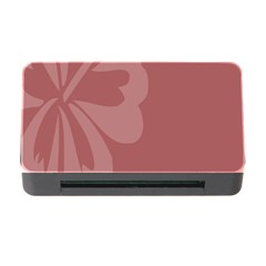 Hibiscus Sakura Red Memory Card Reader With Cf by Mariart