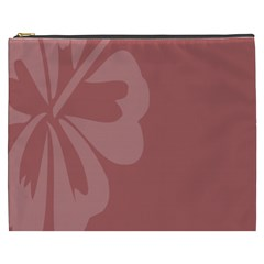 Hibiscus Sakura Red Cosmetic Bag (xxxl)  by Mariart
