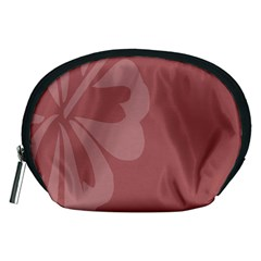 Hibiscus Sakura Red Accessory Pouches (medium)  by Mariart