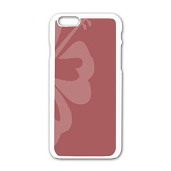 Hibiscus Sakura Red Apple Iphone 6/6s White Enamel Case by Mariart