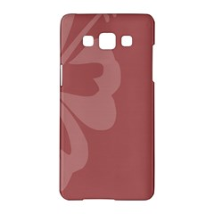 Hibiscus Sakura Red Samsung Galaxy A5 Hardshell Case  by Mariart