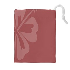 Hibiscus Sakura Red Drawstring Pouches (extra Large) by Mariart