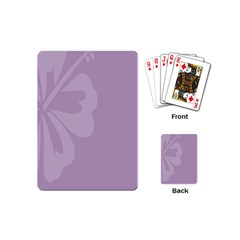Hibiscus Sakura Lavender Herb Purple Playing Cards (mini)  by Mariart