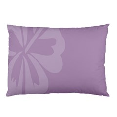Hibiscus Sakura Lavender Herb Purple Pillow Case (two Sides) by Mariart
