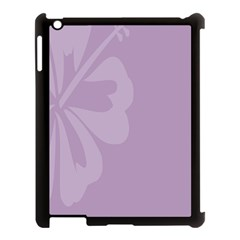 Hibiscus Sakura Lavender Herb Purple Apple Ipad 3/4 Case (black) by Mariart