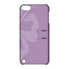 Hibiscus Sakura Lavender Herb Purple Apple Ipod Touch 5 Hardshell Case With Stand by Mariart