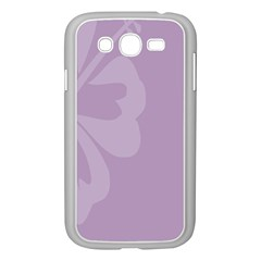 Hibiscus Sakura Lavender Herb Purple Samsung Galaxy Grand Duos I9082 Case (white) by Mariart