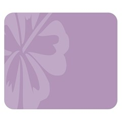 Hibiscus Sakura Lavender Herb Purple Double Sided Flano Blanket (small)  by Mariart