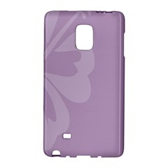 Hibiscus Sakura Lavender Herb Purple Galaxy Note Edge by Mariart