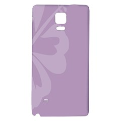 Hibiscus Sakura Lavender Herb Purple Galaxy Note 4 Back Case by Mariart