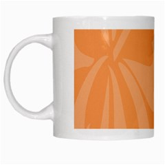 Hibiscus Sakura Tangerine Orange White Mugs by Mariart