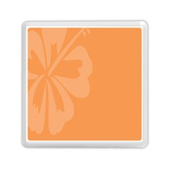 Hibiscus Sakura Tangerine Orange Memory Card Reader (square)  by Mariart