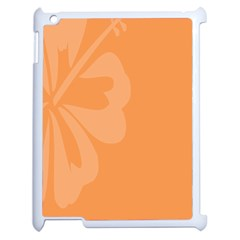 Hibiscus Sakura Tangerine Orange Apple Ipad 2 Case (white) by Mariart