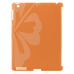 Hibiscus Sakura Tangerine Orange Apple Ipad 3/4 Hardshell Case (compatible With Smart Cover) by Mariart